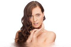 Beautiful woman in water Stock Image