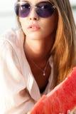 Beautiful woman with watermelon Stock Image
