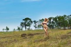 Beautiful woman wearing bikini Royalty Free Stock Images