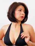 Beautiful woman wearing black bra Royalty Free Stock Photos