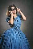 Beautiful woman wearing a black mask Royalty Free Stock Photo