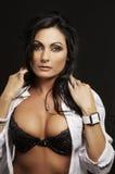 Beautiful woman wearing bra Royalty Free Stock Photo
