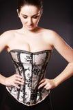 Beautiful woman wearing corset Stock Photography