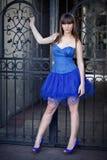 Beautiful woman wearing dress Stock Images