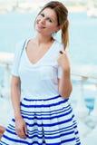 Beautiful woman wearing fashionable clothes Stock Image