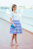 Beautiful woman wearing fashionable clothes Royalty Free Stock Photos