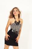 Beautiful woman wearing fashionable clothing Royalty Free Stock Image