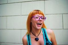 Beautiful Woman Wearing Glasses Royalty Free Stock Photo