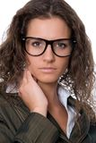 Beautiful Woman Wearing Glasses Royalty Free Stock Photography