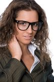 Beautiful Woman Wearing Glasses Royalty Free Stock Images