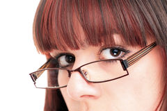 Beautiful Woman Wearing Glasses Stock Photography