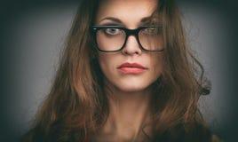 Beautiful woman wearing glasses Stock Photography