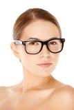 Beautiful woman wearing glasses Stock Photos