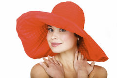 Beautiful woman wearing a hat Stock Photography