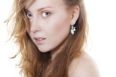 Beautiful Woman Wearing Jewelry Royalty Free Stock Image