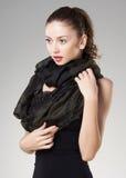 Beautiful woman wearing kashmir scarf Stock Photography