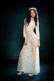 Beautiful Woman Wearing Lace Dress Royalty Free Stock Photo