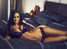 Beautiful woman wearing lingerie Stock Photo