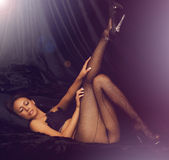 Beautiful woman wearing lingerie Royalty Free Stock Photo