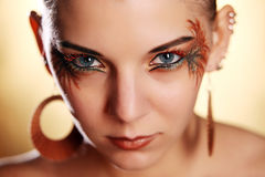 Beautiful woman wearing make-up Royalty Free Stock Images