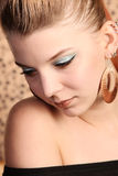 Beautiful woman wearing make-up Stock Photography