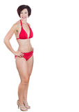 Beautiful woman wearing red bikini Royalty Free Stock Images