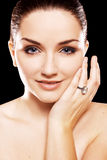 Beautiful woman wearing ring Stock Image