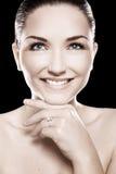 Beautiful woman wearing ring Royalty Free Stock Images