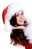 Beautiful woman wearing santa claus clothes Royalty Free Stock Photos
