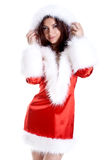 Beautiful woman wearing santa claus clothes Stock Photo