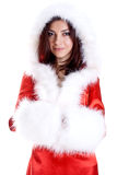 Beautiful woman wearing santa claus clothes Royalty Free Stock Image