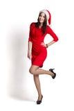 Beautiful woman wearing santa claus clothes Stock Image