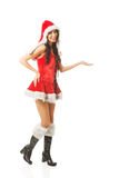 Beautiful woman wearing santa clothes Stock Image