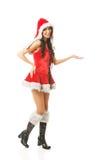 Beautiful woman wearing santa clothes Stock Image