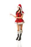 Beautiful woman wearing santa clothes Royalty Free Stock Photography