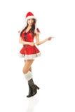 Beautiful woman wearing santa clothes Stock Photography