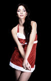Beautiful woman wearing a santa hat Royalty Free Stock Photography