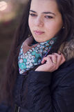 Beautiful woman wearing scarf Royalty Free Stock Photo