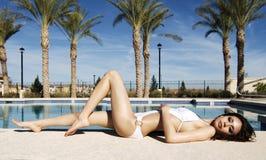 Beautiful woman wearing swimwear Royalty Free Stock Images
