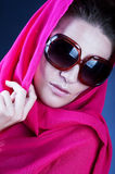 Beautiful woman wearing sunglasses Royalty Free Stock Photos