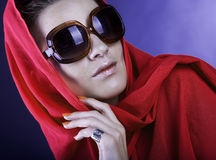 Beautiful woman wearing sunglasses Stock Image