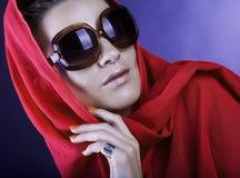Beautiful woman wearing sunglasses Stock Image