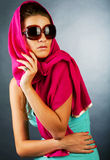 Beautiful woman wearing sunglasses Stock Photos