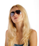 Beautiful woman wearing sunglasses Royalty Free Stock Image