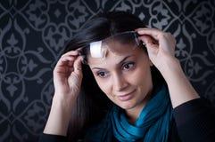 Beautiful woman wearing sunglasses Stock Photography
