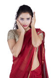 Beautiful woman wearing traditional Indian clothes Royalty Free Stock Photo