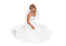 Beautiful woman wearing wedding dress Royalty Free Stock Image