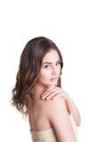 Beautiful  woman wearing white towel Stock Photography