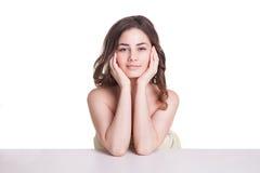 Beautiful  woman wearing white towel Royalty Free Stock Photos