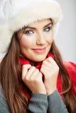 Beautiful woman wearing a winter cap Royalty Free Stock Photo